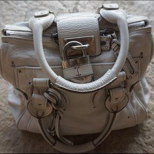 White leather chloè purse